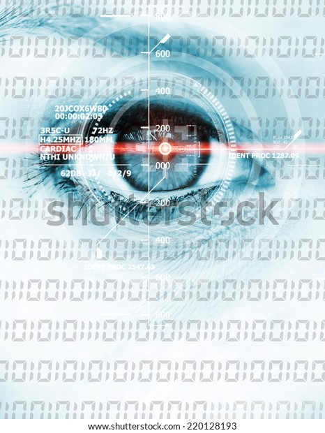 Data eye with laser ray