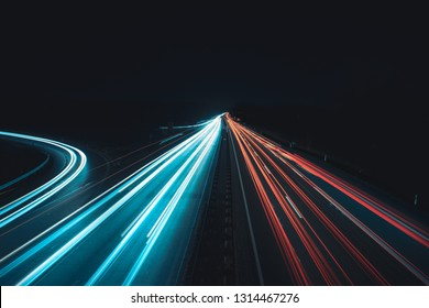 data highways at night