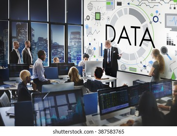 Data information Technology Connection Futuristic Concept