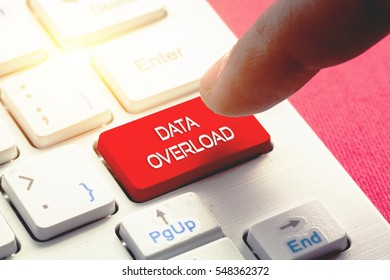 DATA OVERLOAD word concept button on keyboard