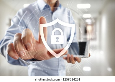 Data protection, cyber security and privacy concept.
