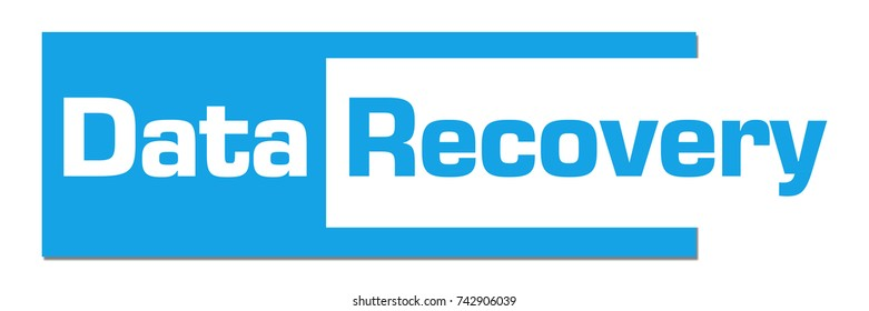 Data Recovery Blue Abstract Stripe Bar