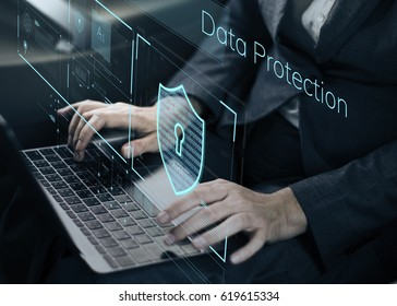 Data Security system Shield Protection Verification - Shutterstock ID 619615334
