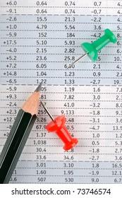 Data sheet and pencil