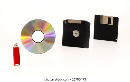 Data storage devices - Diskette, CD-ROM, DVD, USB pendrive