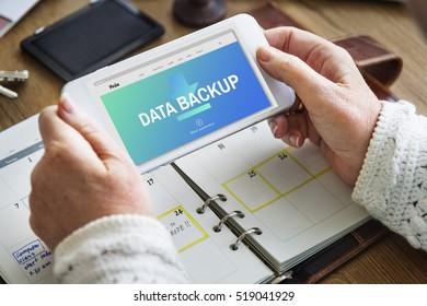 Data Storage Sync Technology Concept