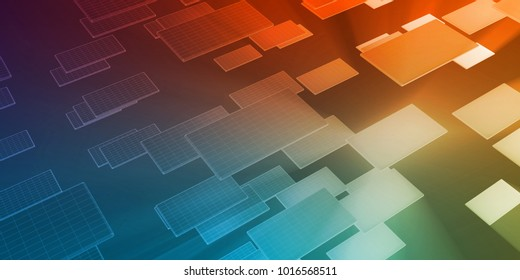 Data Tracking and Surveillance Chart Analysis Art 3D Render