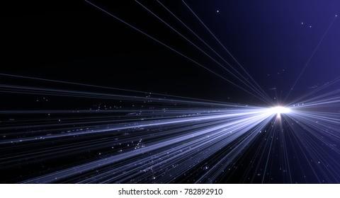 Data transmission channel. Motion of digital data flow. Transferring of big data technology background.