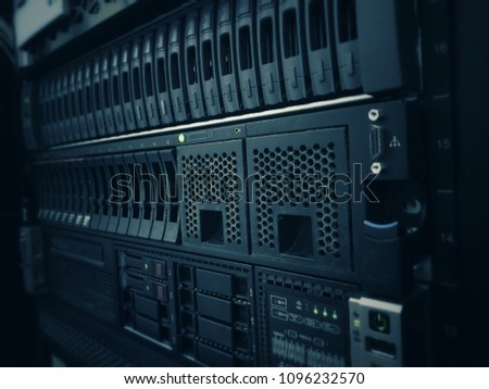 Database Server Datacenter Room Stock Photo (Edit Now) 1096232570