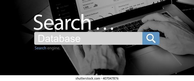 Database Storage Information Network Files Concept