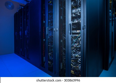 Datacenter internet servers in climate controlled room