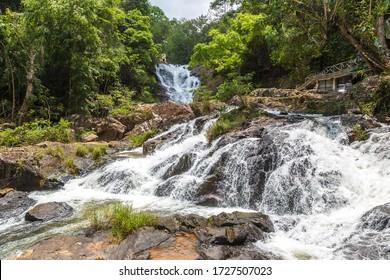 Datanla Waterfall in Dalat, Vietnam in a summer day