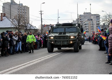 Date: 01.12.2016 Location: Alba Iulia, Alba, Romania The shot was taken on 01 December 2016 in the city Alba Iulia on Romanian National Day at the military parade