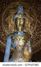 Date : 25/03/2019 Ancient Budha image in the Thai temple, Bangkok ,Thailand.