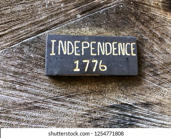 Date marker sign for USA independence in the year of 1776.