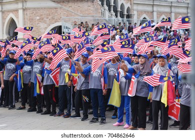 DATE OF MERDEKA, KUALA LUMPUR, MALAYSIA, 29 AUGUST 2017: The rehearsal celebration of the 60th anniversary of the country's independence day.