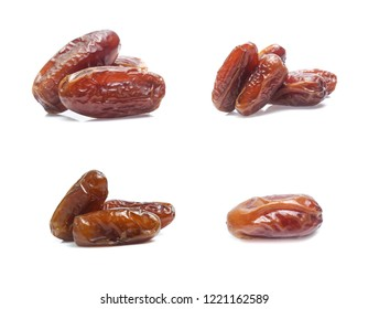 date plam isolated on white background (set  mix   collection)