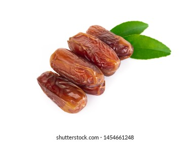 Date plam isolated on white blackground, Food healthy concept
