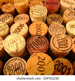 Dated Wine Bottle Corks with Staggered Heights. View 1.