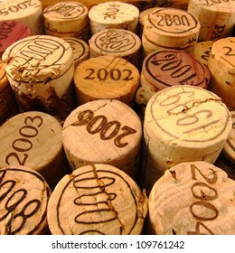 Dated Wine Bottle Corks with Staggered Heights. View 2.