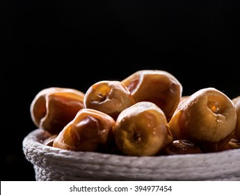 Dates in a basket