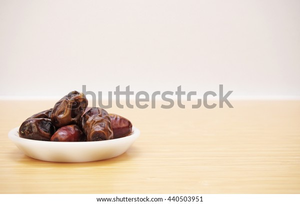 dates in a small plate.