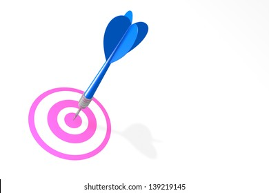 Dating Concept with Blue Dart and Pink Target