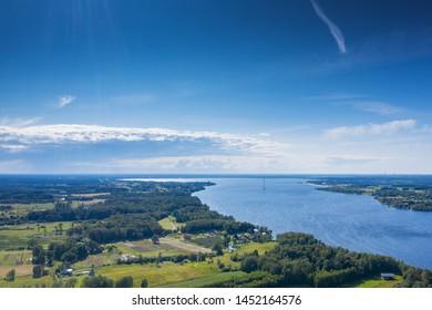 Daugava river next to Daugmale, Latvia.