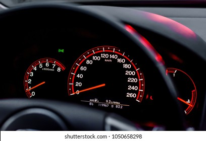 Daugavpils, Latvia - 10.20.2015: Honda Accord Type-S in Latvia (Dashboard)