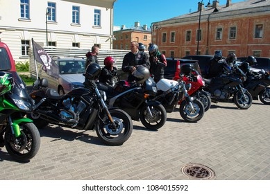 Daugavpils / Latvia - May 5 2018: Annual gathering of bikers from the Baltic countries in the Daugavpils fortress.