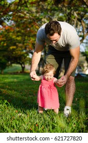 Daughter and father at the park