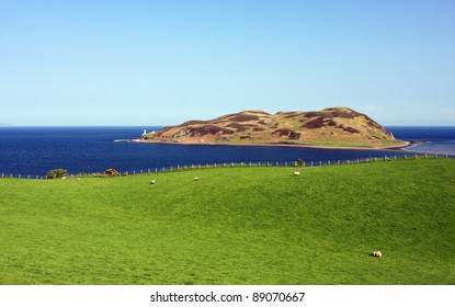 Davaar island and lighthouse from Campbeltown.