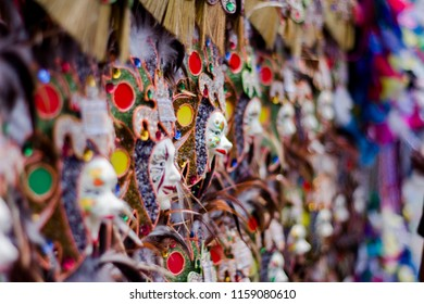 Davao, Philippines - August 18, 2018: Souvenirs in Davao during Kadayawan Festival 2018