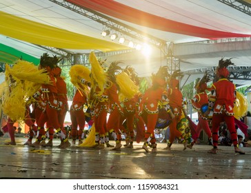 Davao, Philippines - August 18, 2018: Performance at Kadayawan Square in Davao during Kadayawan Festival 2018