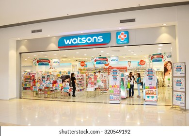 DAVAO/PHILIPPINES - FEBRUARY 02: Watsons personal care store is one of the most famous health & beauty care stores in the far east since 1828.