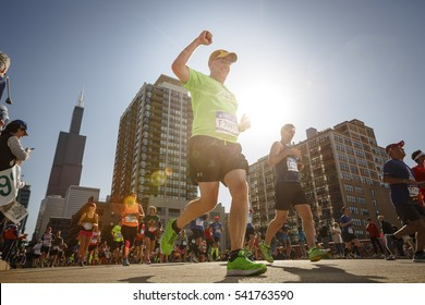 Dave Dusenberry competes in The Chicago Marathon in Chicago, Illinois October 9, 2016. The Chicago Marathon is one of the six World Marathon Majors.