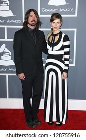 Dave Grohl, Jordyn Blum at the 55th Annual GRAMMY Awards, Staples Center, Los Angeles, CA 02-10-13