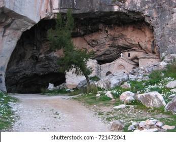 Davelis Cave at Penteli mountain Athens Greece