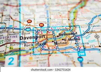 Davenport on the map