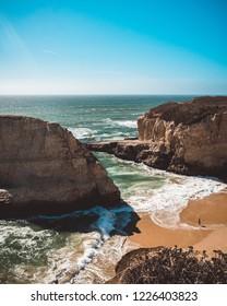 davenport shark fin cove cliffs beach sun sea ocean