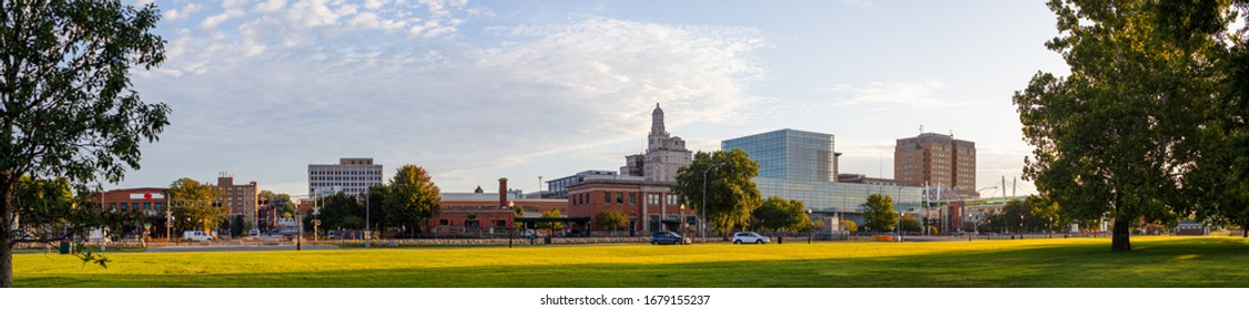 Davenport, in the state of Iowa, United States Of America, as seen from LeClaire Park