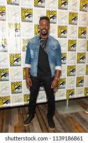"David Ajala attends Comic-Con International San Diego 2018 - Syfy's ""Nightflyers"" press room, San Diego, California on July 19, 2018"
