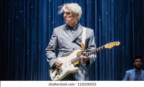 David Byrne at Rock Werchter Festival, Werchter, Belgium 5-8 July 2018