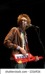 David Crowder with keytar