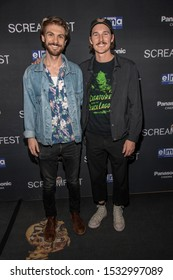 """David Farino, Bryce McGuire attend 19th Annual Horror Film Festival - Screamfest - """"Rabid"""" Los Angeles Premiere - Arrivals at TCL Chinese Theatre, Hollywood, CA on October 16, 2019"""