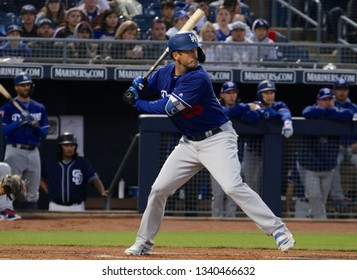 David Freese  3rd basemen for the Los Angeles Dodgers.for the Los Angeles Dodgers at Peoria Sports Complex in Peoria, Arizona/USA March 14,2019.