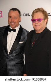 David Furnish and Elton John at the 19th Annual Elton John Aids Foundation Academy Awards Viewing Party, Pacific Design Center, West Hollywood, CA. 02-27-11