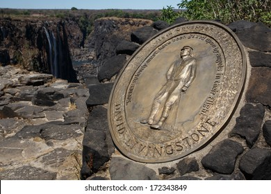 David Livingstone Memorial at The Mighty Victoria Falls in Livingstone, Zambia, Africa