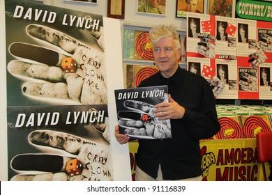 "David Lynch signs his new CD ""Crazy Clown Time,"" Amoeba Music, Hollywood, CA 12-0-6-11"