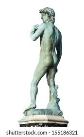David (Michelangelo), back view